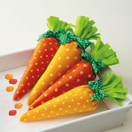 Carrot Felt Treat Bags