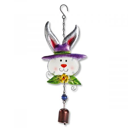 Metal & Glass Bunny Hanger