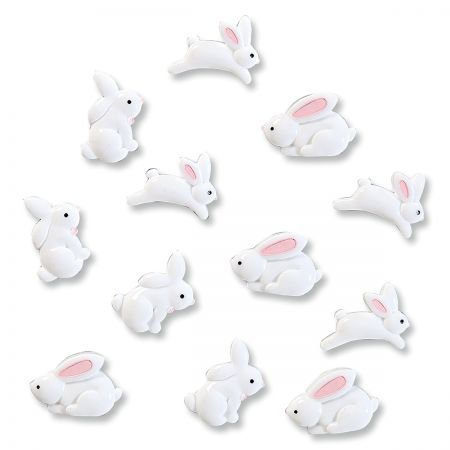 Resin Bunny Magnets