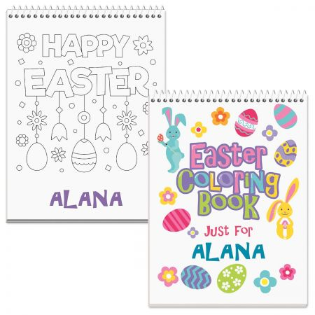 Happy Easter Personalized Coloring Book
