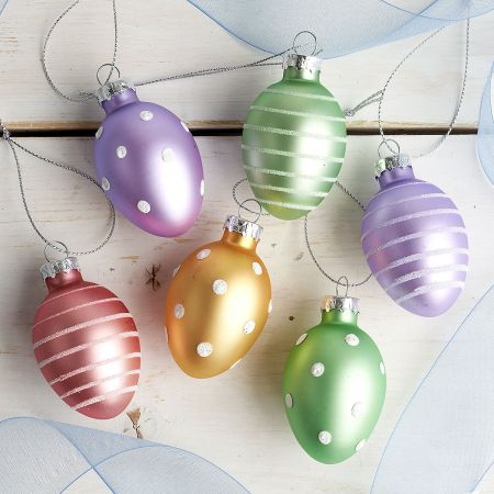 Pastel Easter Egg Ornaments