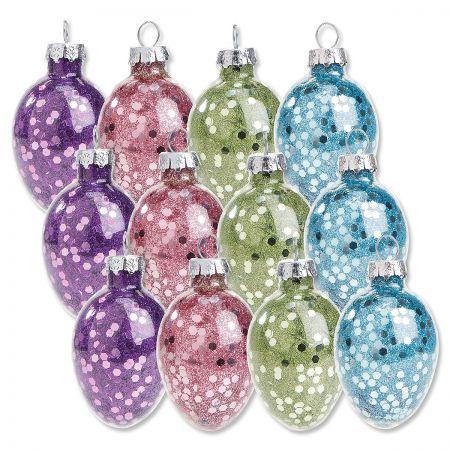 Glitter Easter Egg Ornaments