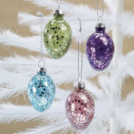 Glitter Easter Egg Ornaments
