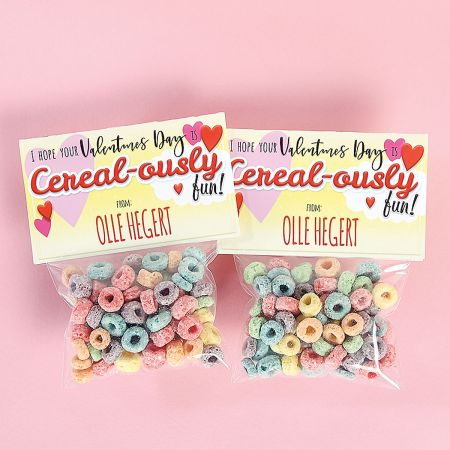 Personalized Cereal Card Valentines
