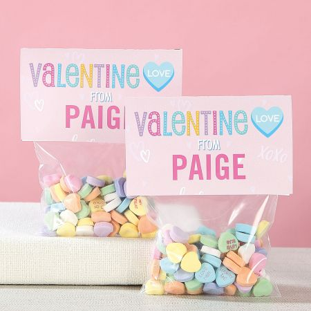 Personalized Conversation Hearts Valentines