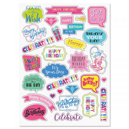 Birthday Caption Stickers