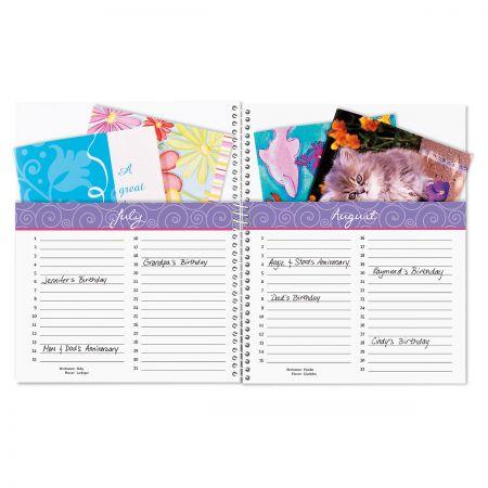 Lavender Blooms Organizer Book