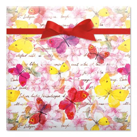 Floral Butterflies Jumbo Rolled Gift Wrap