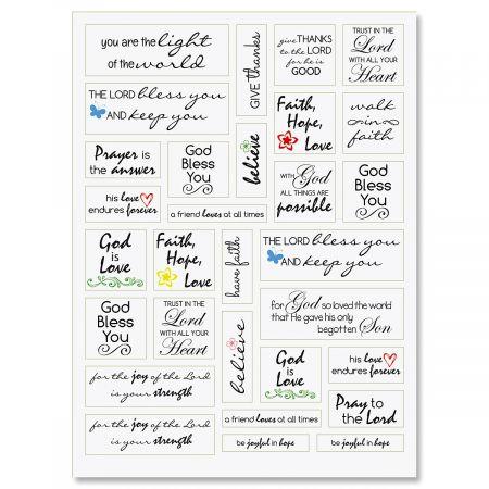 Faith Word Stickers