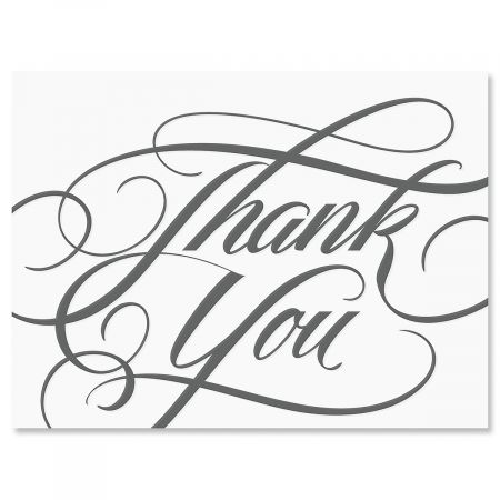 Formal Grey Thank You Note Cards