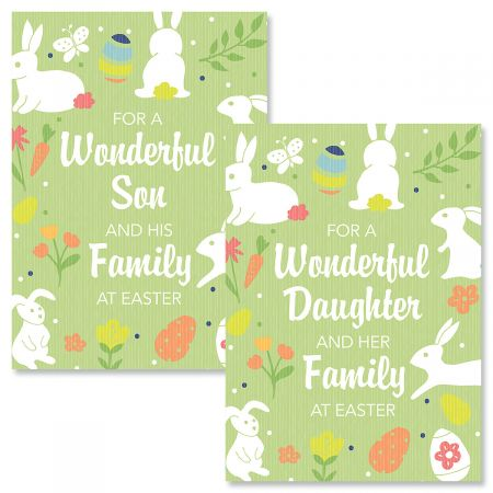 For a Wonderful Daughter or Son Religious Easter Card