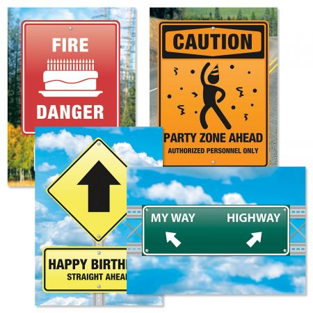 Road Signs Birthday Cards and Seals
