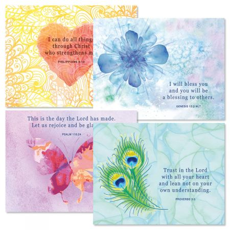 Bright Watercolor Faith Note Cards