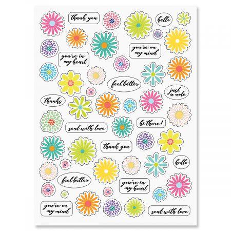 Pink Daisy Stickers - BOGO
