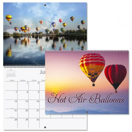 2020 Hot Air Balloons Wall Calendar