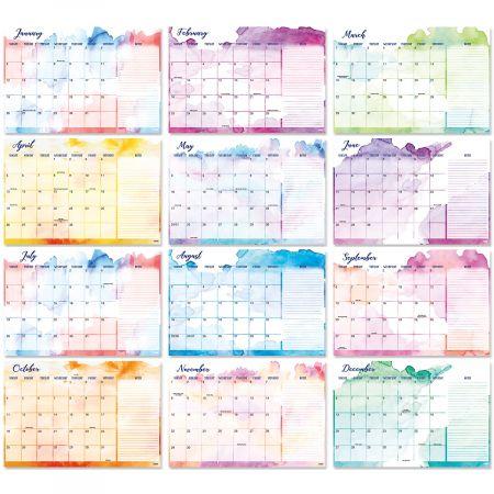 2020-2021 Brush Strokes Calendar Pad