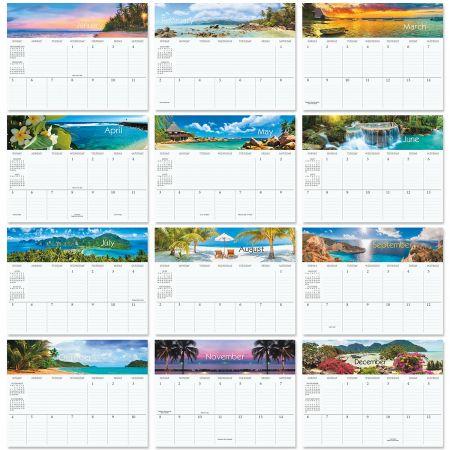 2020 Tropical Big Grid Planning Calendar