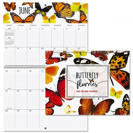 2020 Butterfly Flurry Big Grid Planning Calendar