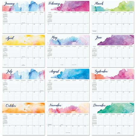 2020 Brushstrokes Big Grid Planning Calendar