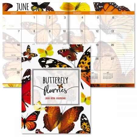 2020 Butterfly Flurry Desk Calendar