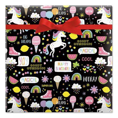 Goodie Gumdrops Jumbo Rolled Gift Wrap