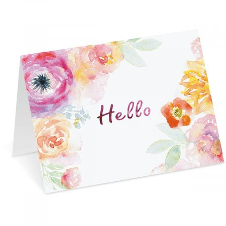 Watercolor Floral Note Cards - BOGO