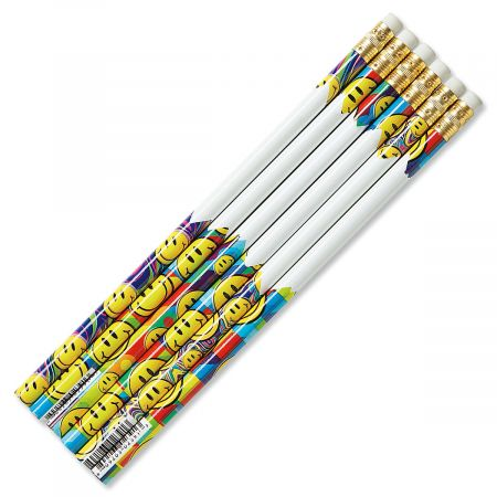 #2 Smiley Face Hardwood Pencils