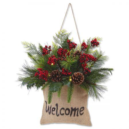 Christmas Greenery.Welcome Christmas Greenery