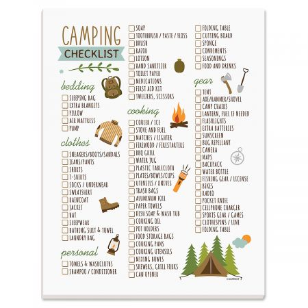 Camping Trip Packing Checklist Pad