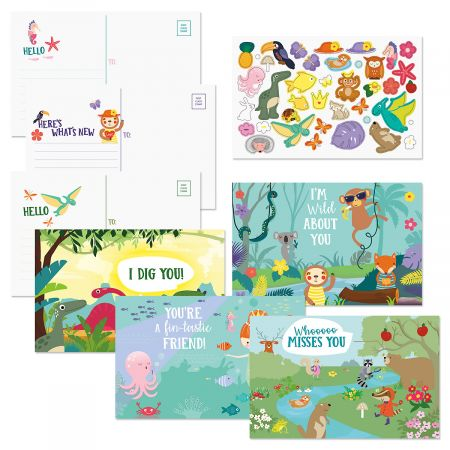 Grandparent Postcards and Stickers