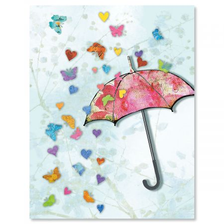 Heart and Butterfly Note Cards - BOGO