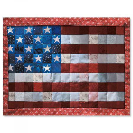 Patriotic Quilt Note Cards - BOGO