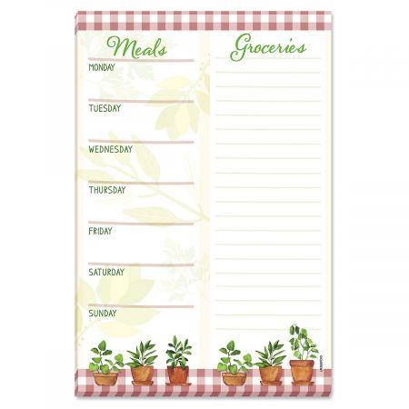 Herbs Menu Planner Notepad