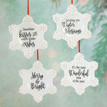 Ceramic Snowflake Ornaments