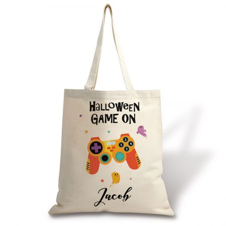 Kids' Personalized Gamer Halloween Tote