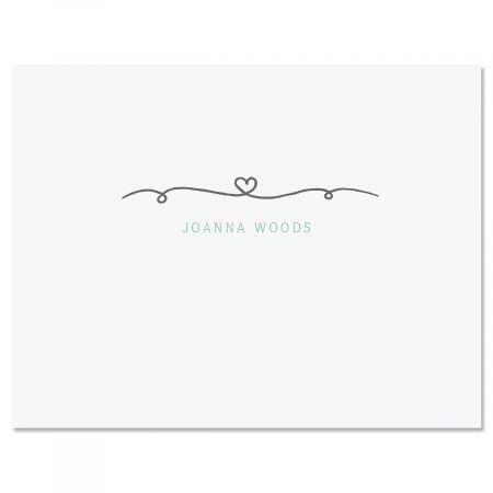 Precious Monogram Personalized Note Cards