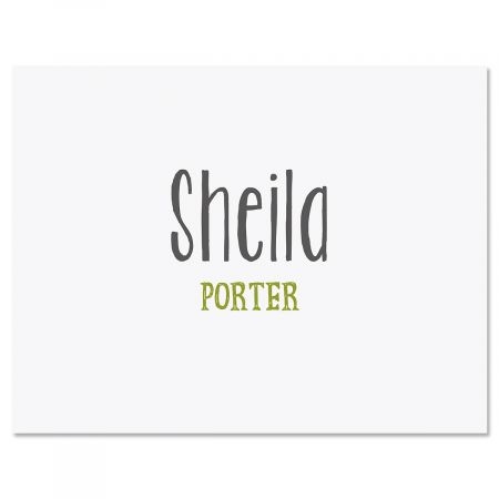 Rustic Script Personalized Note Cards