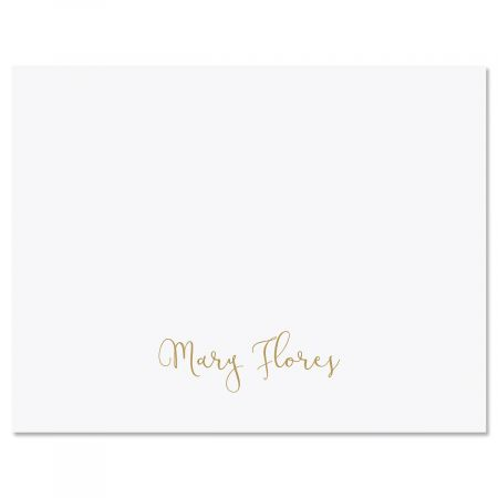 Simple Script Personalized Note Cards
