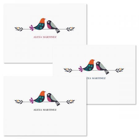 Chickadees Personalized Note Cards