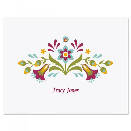 Floral Fiesta Personalized Note Cards