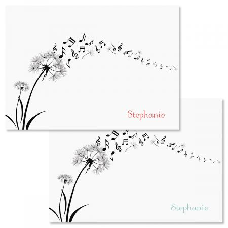Dandelion Notes Personalized Note Cards