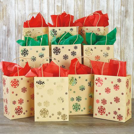 Foil Snowflakes Gift Bag Value Pack