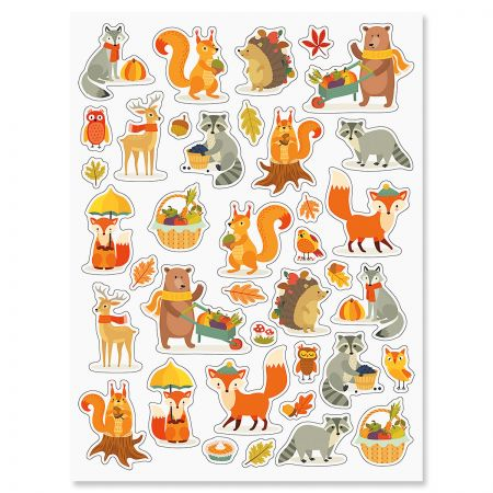 Woodland Thanksgiving Stickers