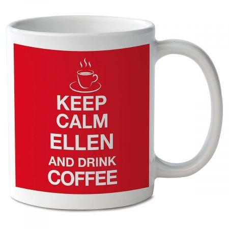 Keep Calm and Drink Coffee Personalized Mug