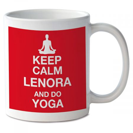 Keep Calm and Do Yoga Personalized Mug