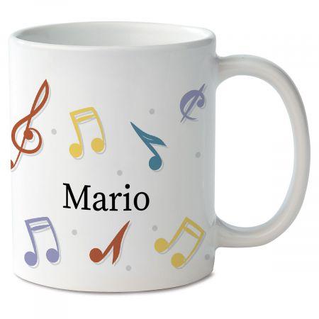 Music Notes Personalized Mug