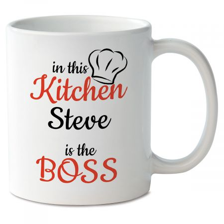 In This Kitchen Personalized Mug