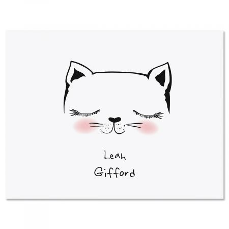 Kitty Ears Personalized Note Cards