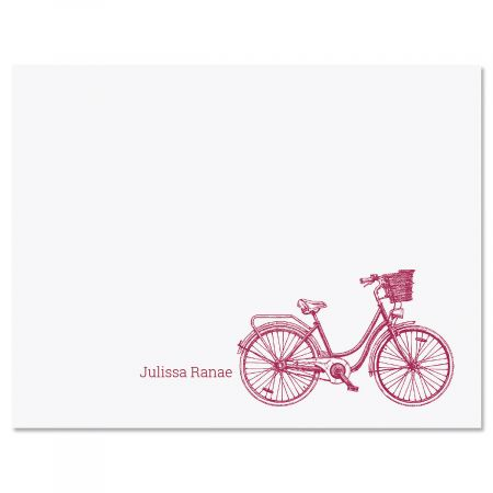Sketch Bicycle Personalized Note Cards