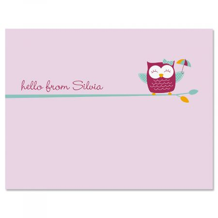 Sweet Owl Personalized Note Cards